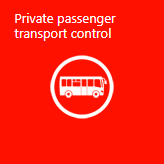 Private fixed-route taxi transportation control