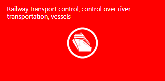 Control of railway vehicles, river transportation, vessels