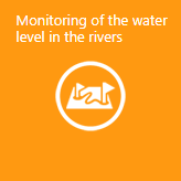 Monitoring of the water level in the rivers